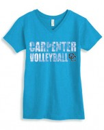 Carpenter MS Girls Spirit V-Neck T-Shirt (Royal)